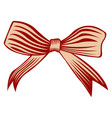isolated tied ribbon vector image