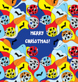 Merry christmas card - whimsical design vector image