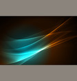 polar lights concept background vector image