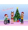 Share Cristmas for Special needs children vector image