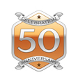 Fifty years anniversary celebration silver logo vector image
