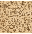 Coffee time seamless background grunge for your vector image vector image