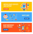 baby health horizontal banners set vector image