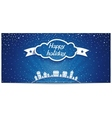 Just holiday card with 3D cloud and lettering vector image