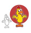 Chicken Character vector image vector image