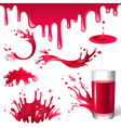 red juice splashes vector image
