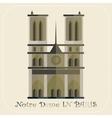 Notre Dame Cathedral in Paris icon vector image vector image