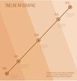 Flat beige diagonal timeline infographic vector image vector image