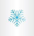blue frozen snowflake icon vector image