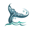 Background with the tail of a whale vector image