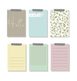 Set of 6 creative journaling cards and notes vector image vector image