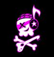 rock skull symbol vector image