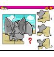 jigsaw preschool activity task vector image