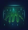 big hand vector image