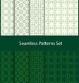 dotted oriental motif seamless pattern set vector image