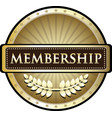 membership gold label vector image