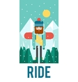 pattern for your phone case with nice snowboarder vector image