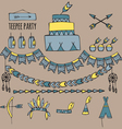 pow wow party vector image