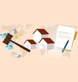 property housing home law gavel wooden hammer vector image