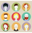 Set of avatar flat design icons vector image