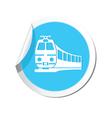 train icon round blue copy vector image