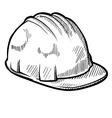 doodle construction hard hat vector image vector image