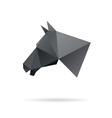 Horse head abstract isolated on a white background vector image
