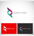 dna colored ribbon logo vector image