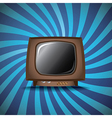 Old analog television vector image