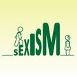 Sexism vector image