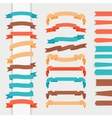 flat ribbons vector image