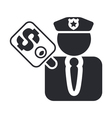 cop corruption icon vector image vector image
