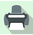 Photo printer icon flat style vector image