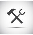 Simple tools icon wrench and hammer vector image