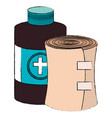 bottle medical with band vector image