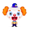 funny clown with butterfly vector image