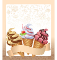 Ice cream menu vector image