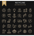 Set Flat Line Icons Recycling vector image