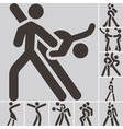 sport dancing icons set vector image