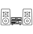 stereo system icon vector image
