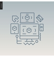 Web design outlined icon vector image