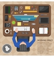 Working Space Top View Design vector image