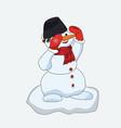snowman christmas greeting editable format vector image