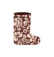 Russian winter boots valenki khokhloma painting vector image