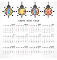 Calendar 2015 design template vector image