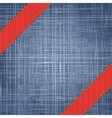 Denim texture with label ribbon vector image