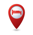 bed RED pointer vector image