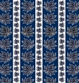 pattern of dark leaves vector image vector image