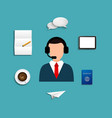modern support service icons set vector image