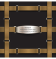 Frame made of leather belts steampunk vector image